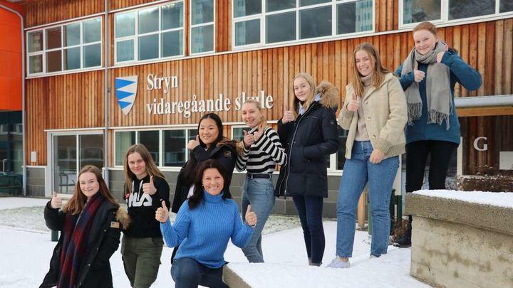 Entreprenørskapselevane 2019   Foto: Fjordingen