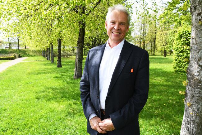 Kyrre Jordbakke i Skriverhaven sommer