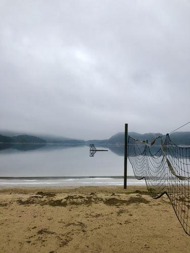 badeplass v Sandlandsvannet