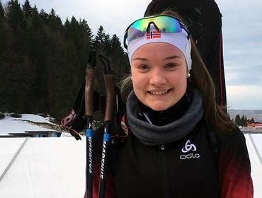 God skyting: Gunn Kristi Stensaker Tvinnereim med nytt flott løp i ungdoms-OL.   Foto: Irene Stensaker