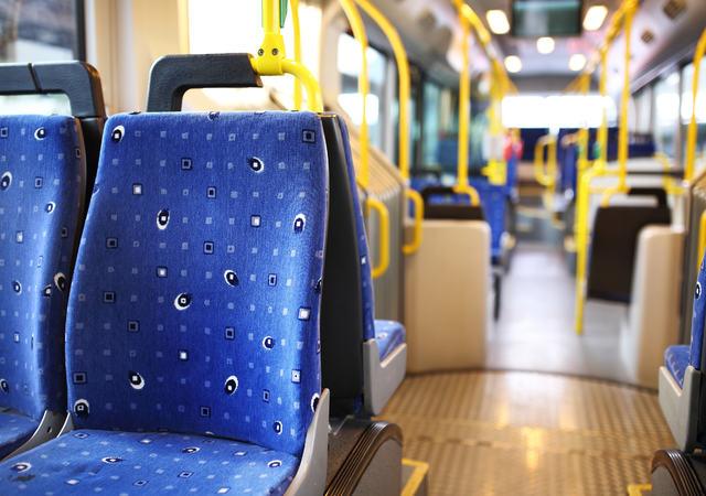 Route bus in Dubai.