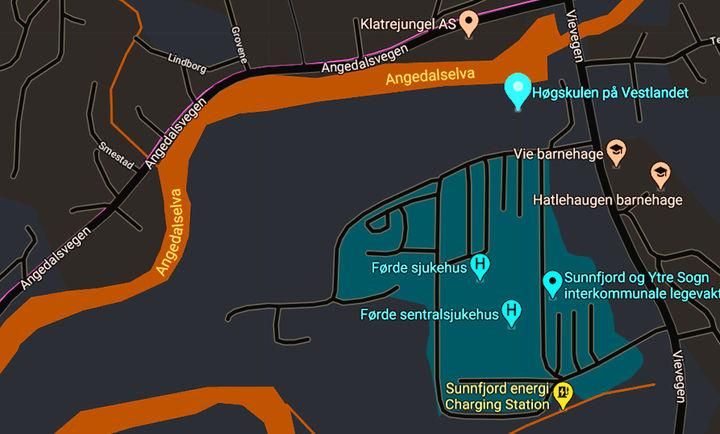 Høgskulen på Vestlandet (kart)