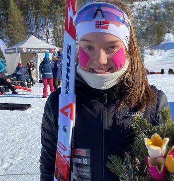 Junior NM i Folldal Gullmedalje til Gunn Kristi Tvinnereim   Foto: Sjur Ole Svardad