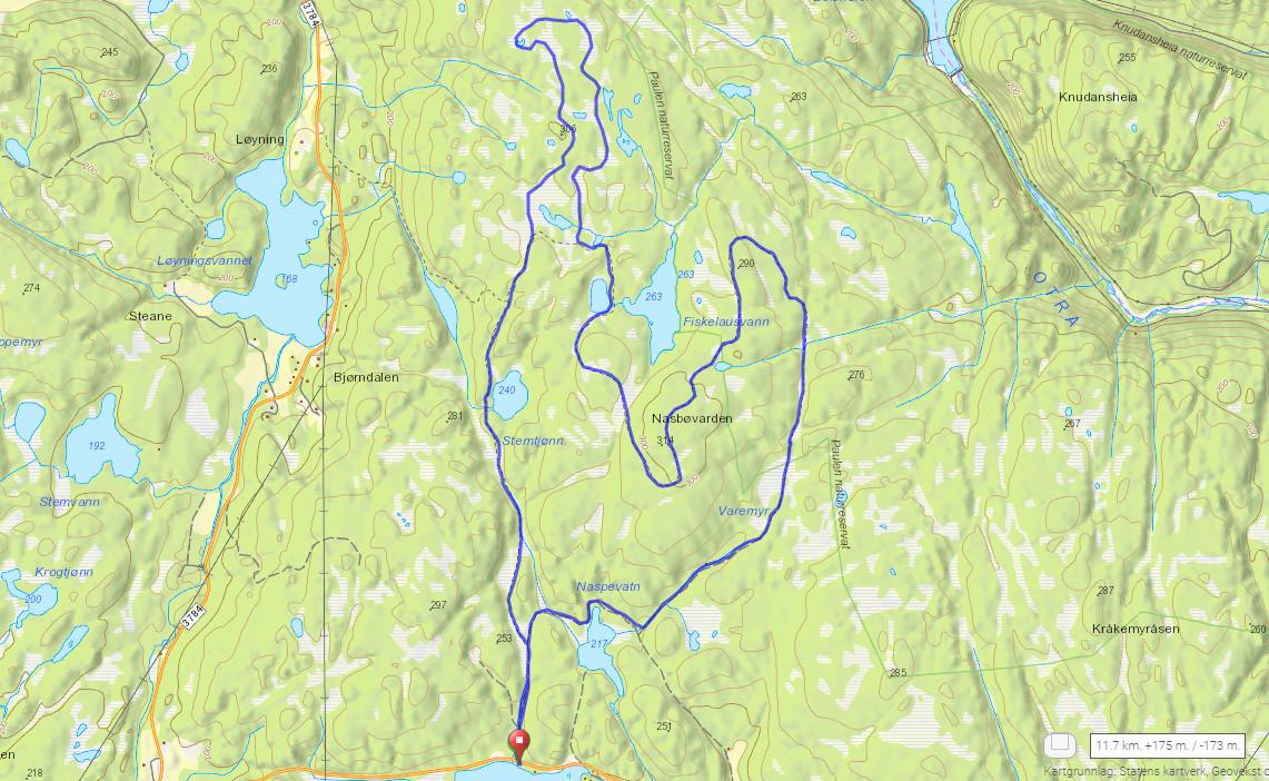 Drivenesheia-Nasbøvarden,kart.PNG