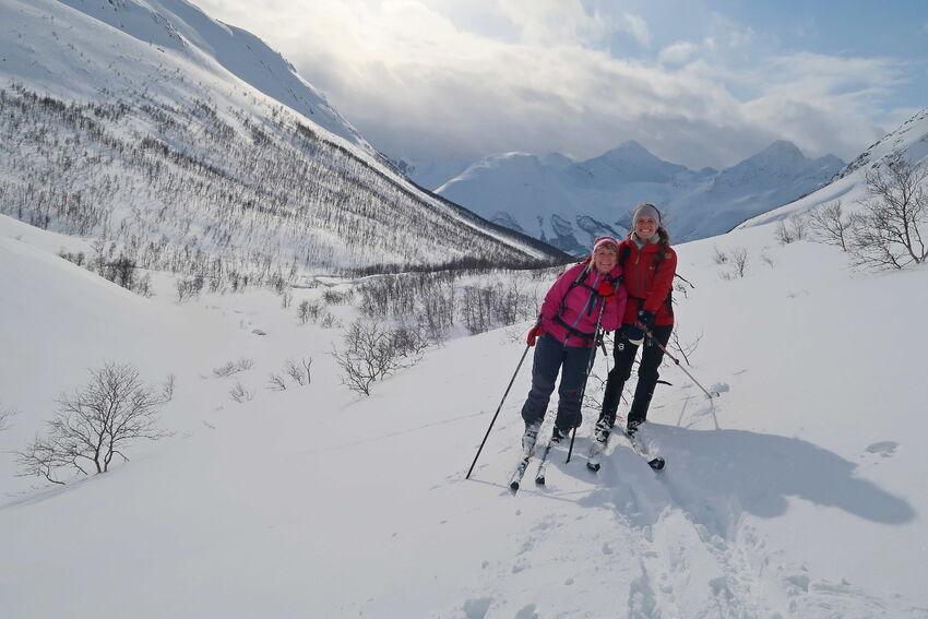 Flotte skiforhold i Lakselvbukt. Foto: Tine Marie Valbjørn Hagelin