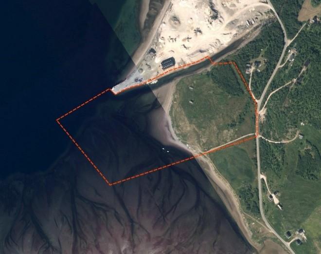Planavgrensning for Austertana småbåthavn.jpg
