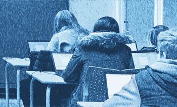 Elevar i eit klasserom ved Hafstad vgs