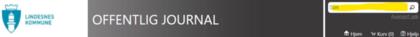 Offentlig journal - innsynsløsning