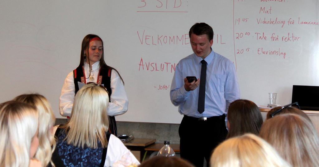3STD, Daniel heldt tale til klassen, Inger Grønntun.jpg