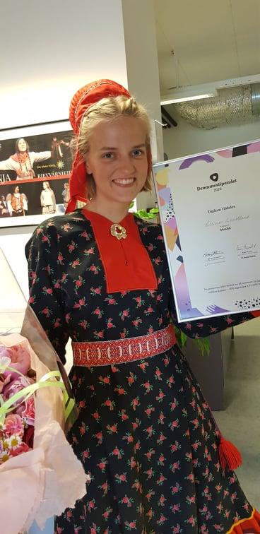 Tana Kulturskoles Drømmestipend vinner 2020 Ellinor Skartland