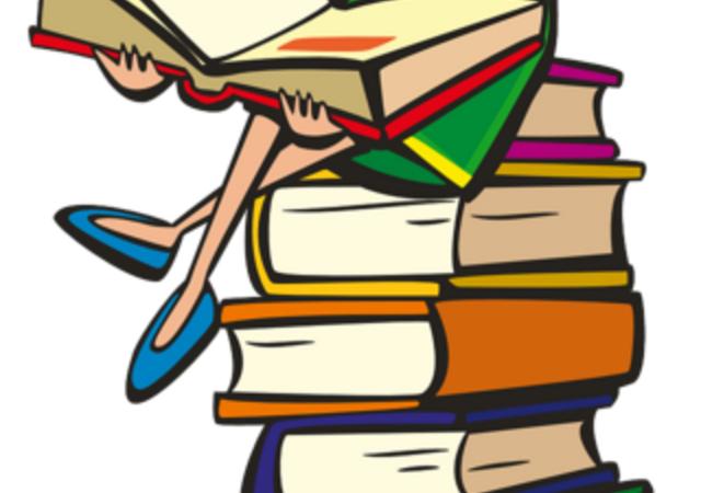 Jente med bøker