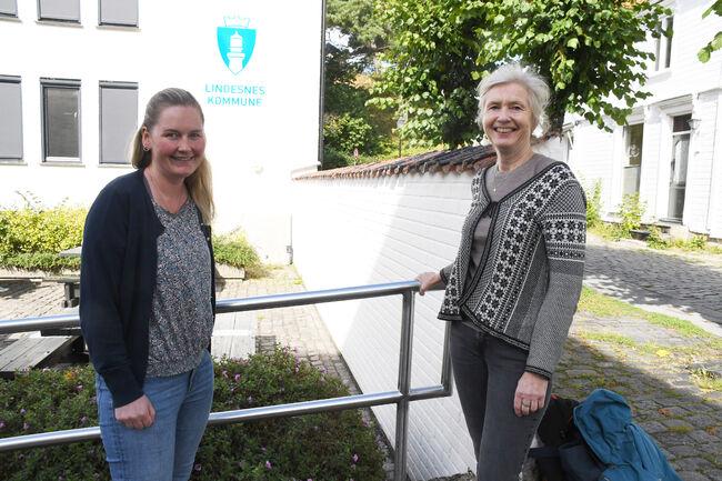 Frivillighetskoordinator Ingunn Ulvestad og folkehelsekoordinator Guro Torhildsdatter inviterer alle interesserte til samlinger om frivillighetserklæringen i Lindesnes kommune.