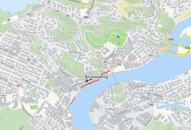 Enveiskjøring Bryggegata