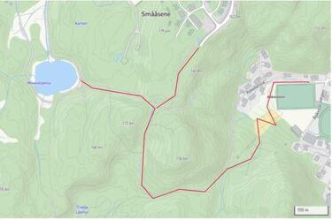 Kart over rundturen som du kan teste i høstmørket. Hele runda har belysning..