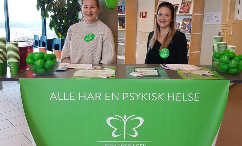 Psykisk helsearbeidar for barn og unge Kamilla Hatledal og helsesjukepleiar Hilde Nordnes.   Foto: Stryn vgs