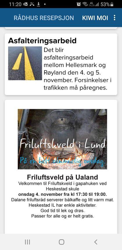 Infoskjermen app