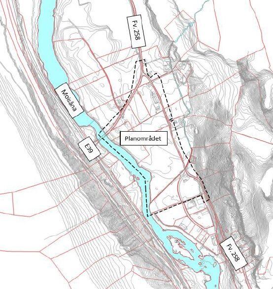 Kart reguleringsområde