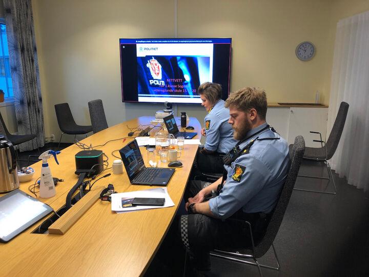 Politiet har digitalt foredrag