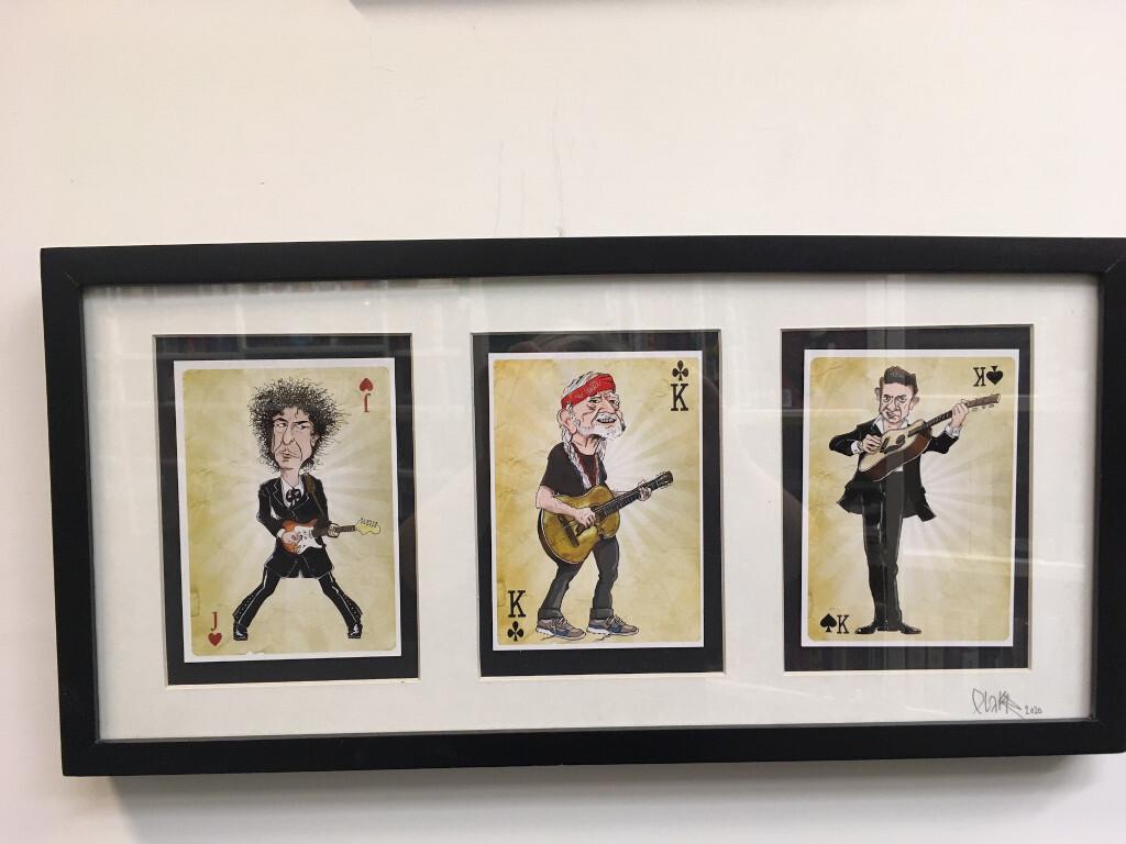 Karikaturar av kjende musikarar