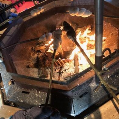 grillhytte bål