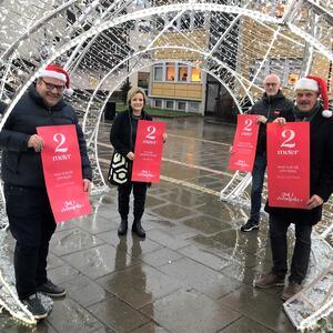 Julehandel og smittevern gikk hånd i hånd i Vennesla. Julehandelen ble svært god i Vennesla i 2020.