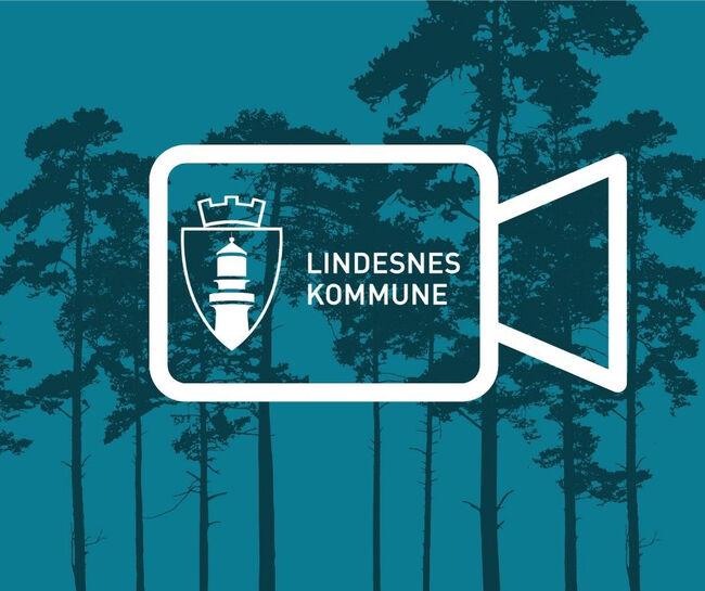Kommune tv logo med trær blå
