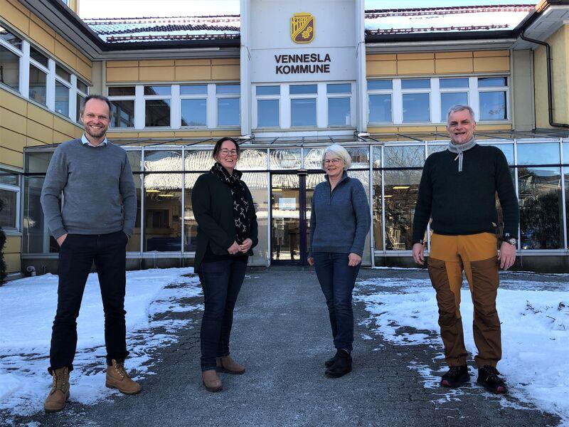 Fv: Vidar Homme, Ingrid s. Konsmo, Inger C. Neset og Tellef Mykland.