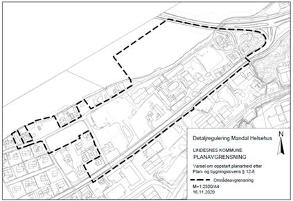 Kartutsnitt som viser planavgrensning