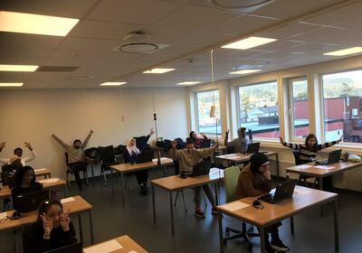 Elevene er klare for norskprøven