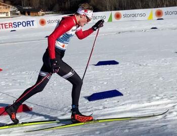 Hjalmar på ski