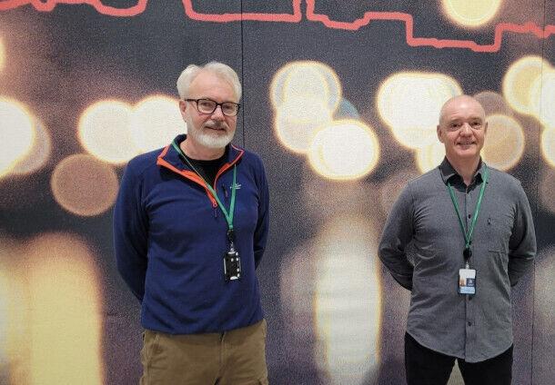 Fra venstre: Jan Vidar Ødegaard og Even Slettebakken. Foto: Pernille Ihme, Kristiansand kommune.