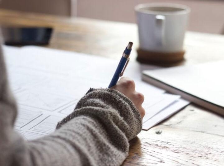 Elev som skriv