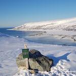 Utsikt fra Olkebakken ned til Skipsfjorden. Skal du gå til Skipsfjorden på vinteren er det best å gå denne ruta. Foto: Laura Bunse