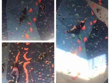 bilder med ungdom i klatrevegg