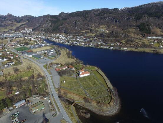 Flyfoto over Lund kirke