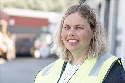 Driftsjef på VØR, Anne Mette, er godt fornøgd med innsatsen til dei tilsette og innbyggjarane