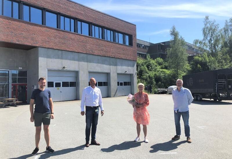 FEIRER BYGGFAG: Fra venstre: Alexander Etsy Jensen, Nils Olav Larsen, Gyrid Nedberg Grønlid og Dag Svendsen.