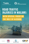 cover image on report, a truck heavily loaded with people, bicycles and equipment along a road in Malawi, Frica
