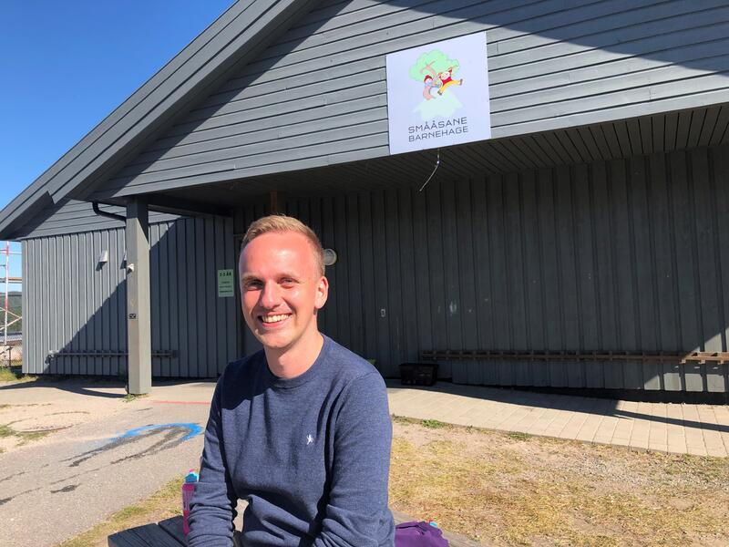 Petter Ruenes Jensen (29) er ny enhetsleder i Smååsane Barnehage.