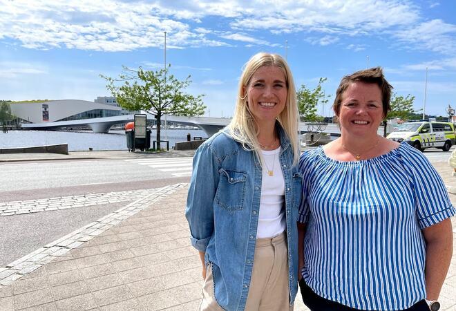 Kreftkoordinator og Demenskoordinator: Kreftkoordinator Kirsti Margrethe Mushom Friis (t.v) og Demenskoordinator Hilde Berg Bentsen (t.h) startet i jobbene sine våren 2021.
