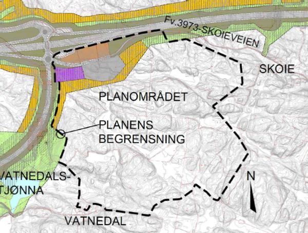 Mandalskrysset næringsområde - planavgrensning