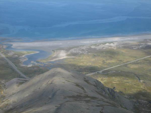 Sandfjorden fra lufta