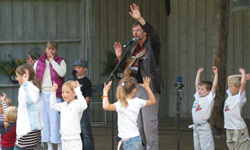 Barna deltok med liv og lyst