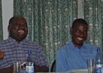Seminardeltakere i godt humør