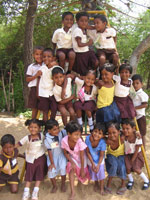 Barn i Sri Lanka
