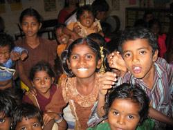 Barn på Nammane/barnehjem.