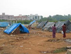 Fra en av slummene i Bangalore
