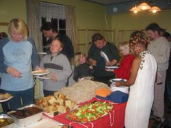 Ringsaker: Mye god mat når beboere inviterte til fest