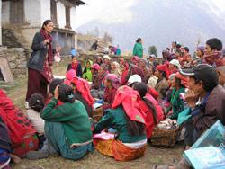 Folkemøte i landsbyen