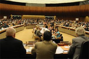 Diskusjonen om alkoholresolusjonen foregikk i helseforsamlingens komité A